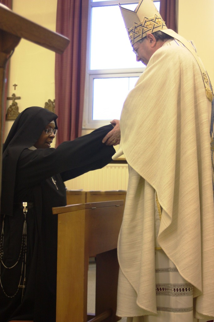 Mother Winsome professes vows (witth Mgr KN)
