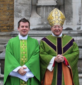 Fr Philip Smith, Acting Dean (left), with Mgr Keith Newton (right)