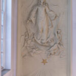 The frieze of Our Lady of the Assumption at Warwick St.